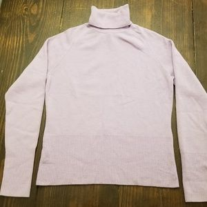 LOFT by Ann Taylor lavender turtleneck sweater